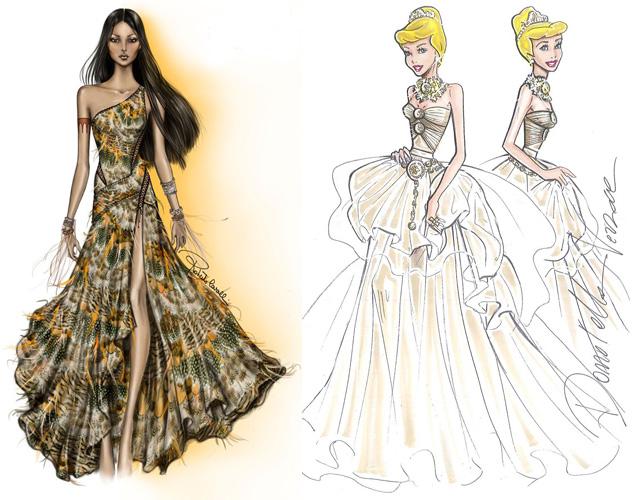 d2cb454352d7 L abito della principessa Pocahontas disegnato da ...