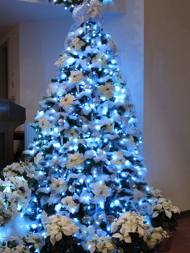 Albero Di Natale Argento E Blu.Albero Di Natale Azzurro