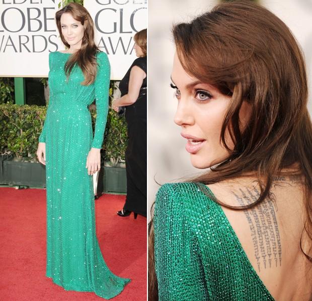 angelina jolie versace golden globe 2011