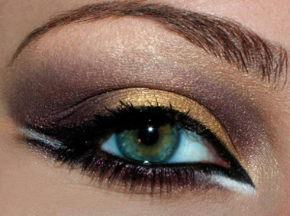 capodanno 2013 make up dorato