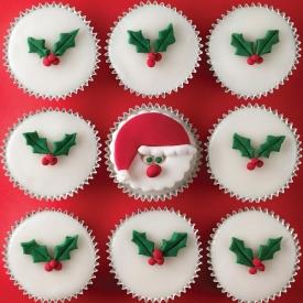cupcake agrifoglio natale