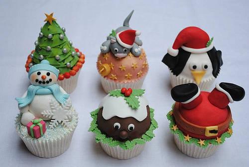 cupcake decorazione natale