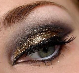 make up capodanno 2013 oro e nero