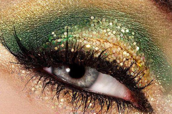 Make-up-capodanno-2013 oro e verde