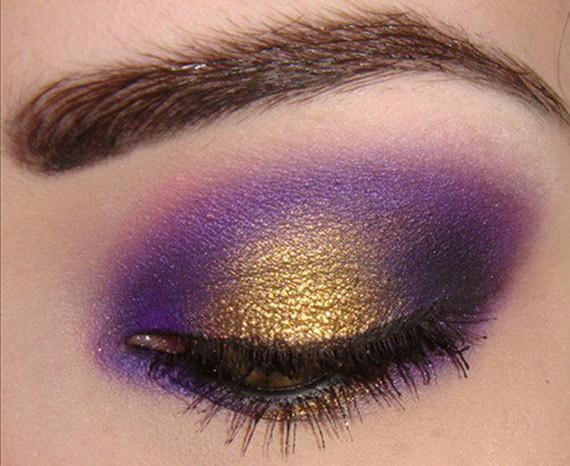 make up capodanno 2013 oro e viola