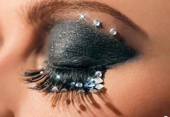 make up con strass capodanno 2013