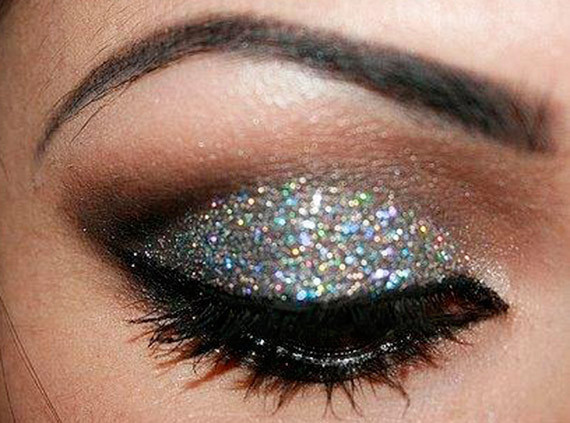make up glitter argento capodanno 2013