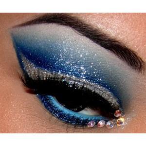 make up glitter blue capodanno 2013