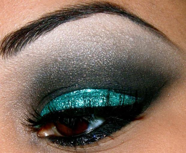 make up glitter verde capodanno 2013