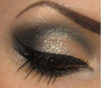 make up occhi glitterato capodanno 2013