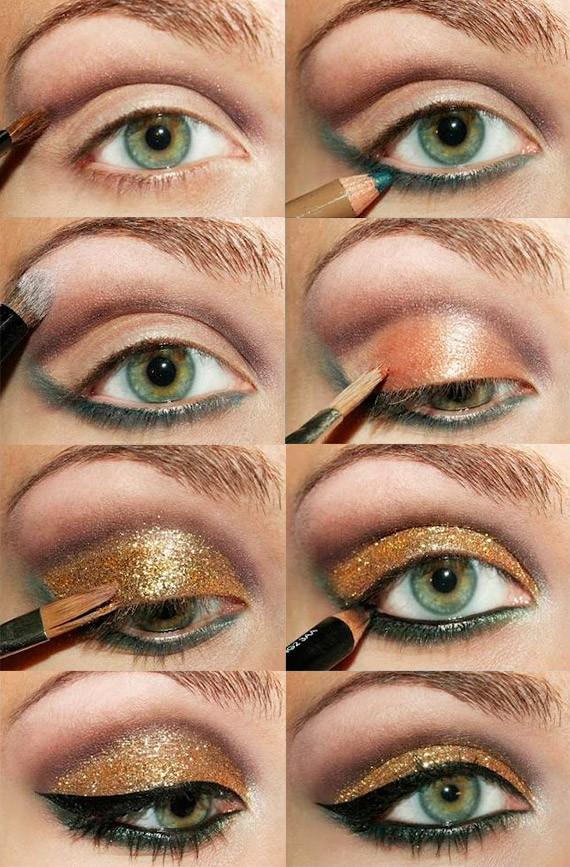 make up oro passo passo 2