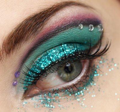 glitters eyes make up