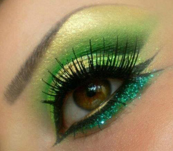 make up verde glitter capodanno 2013