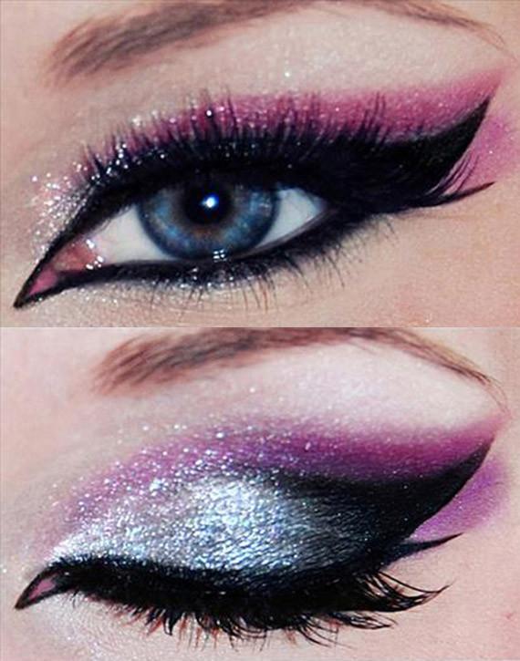 make up viola e argento capodanno 2013