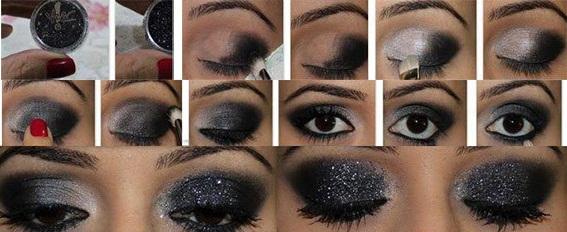 makeup nero glitter passo passo 3