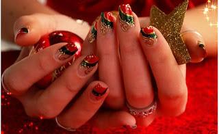 nail art di natale elgante