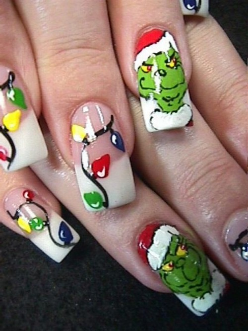 nail art natale il grinch