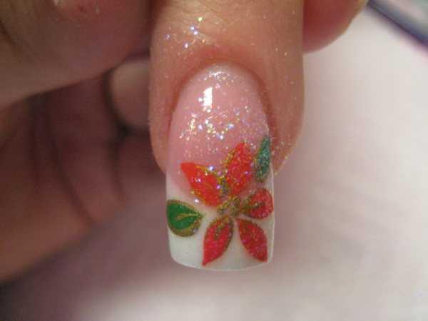 nail art stella di natale