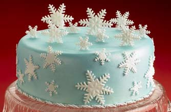 natale fiocchi di neve pasta di zucchero