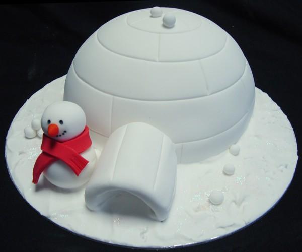 natale torta igloo