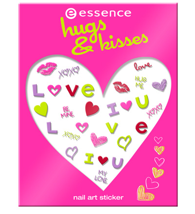 sitcker nail art essence hugs & kisses 2013