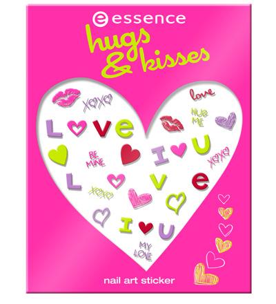 sitcker nail art essence hugs & kisses 2013