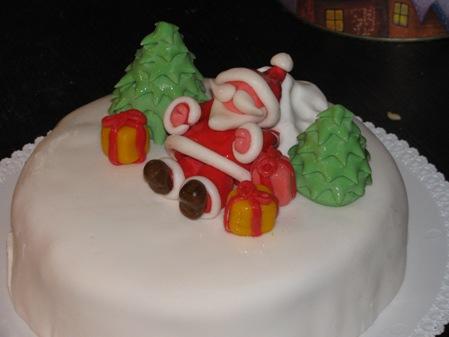 torta con babbo natale in mmf