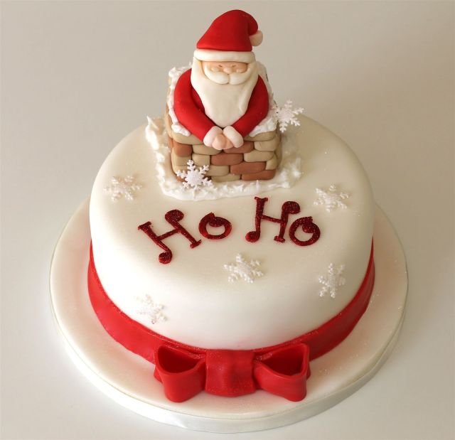 torta decorata per natale
