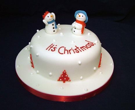 torta natale pupazzi di neve