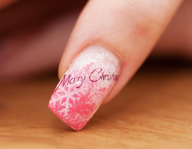 unghie decorate natalizie
