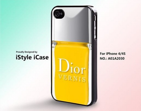 case iphone smalto giallo dior