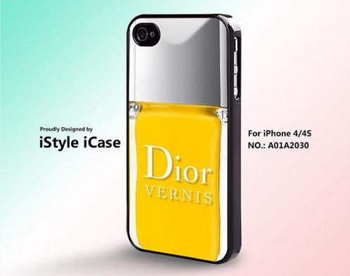 case iphone smalto giallo dior