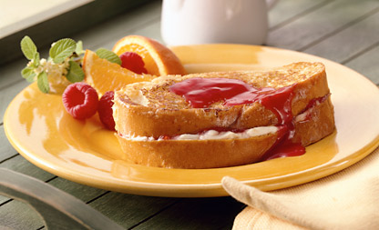 french toast marmellata