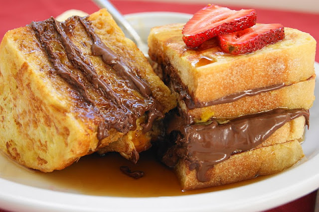 french toast nutella