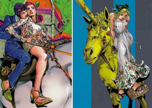 illustrazione cruise collection gucci by hirohiko akari