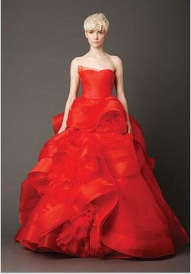 abit da sposa rosso vera wang primavera 2013