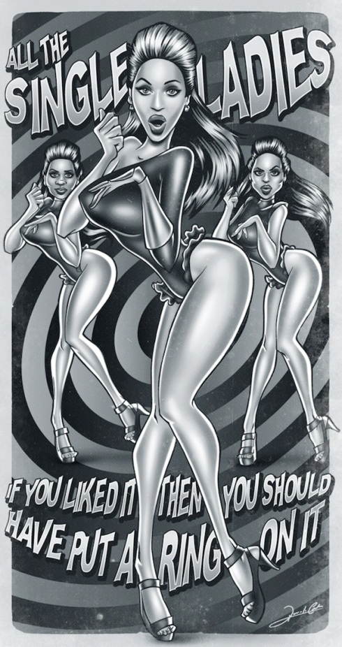 beyonce single ladies pinup