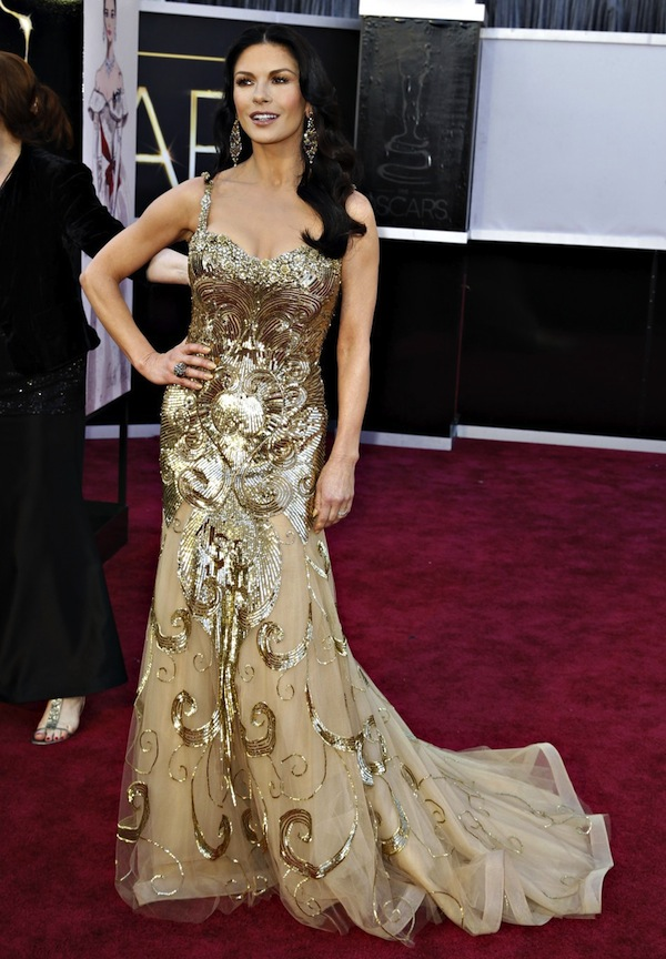 catherine zeta jones oscar 2013