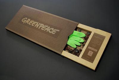 greenpeace guanto di sfida alla moda