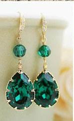 orecchini  sposa emerald 2013
