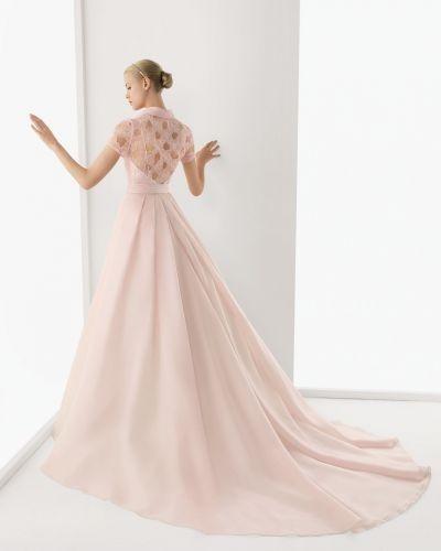 abito da sposa lungo rosa