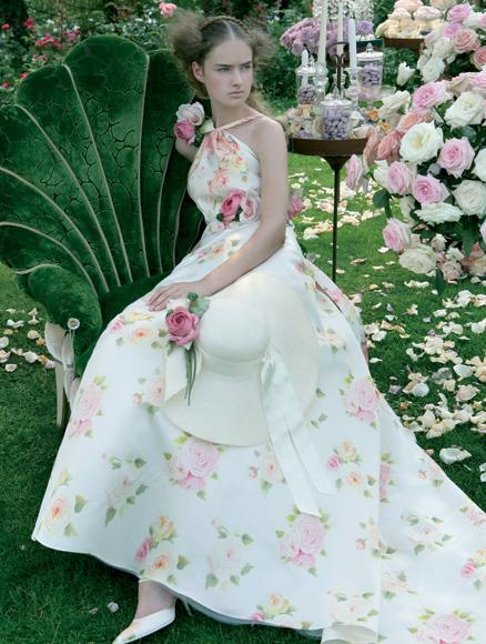 abito da sposa stampato