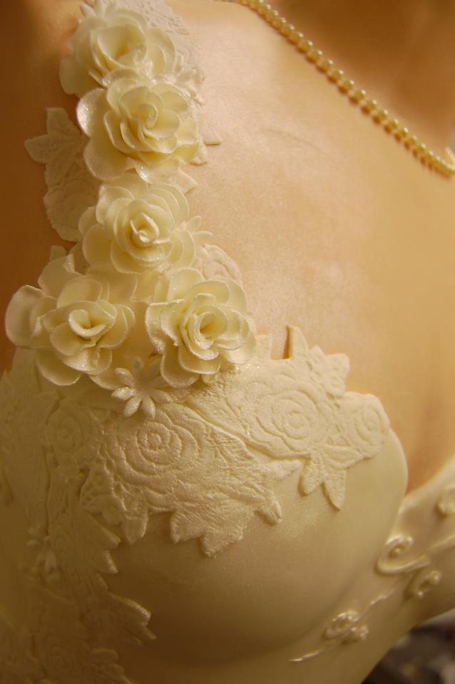 wedding dress cake 3