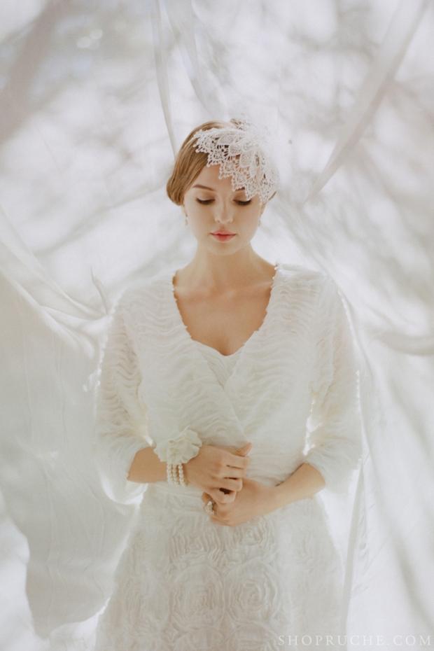 abito da sposa rouche primavera 2013 35