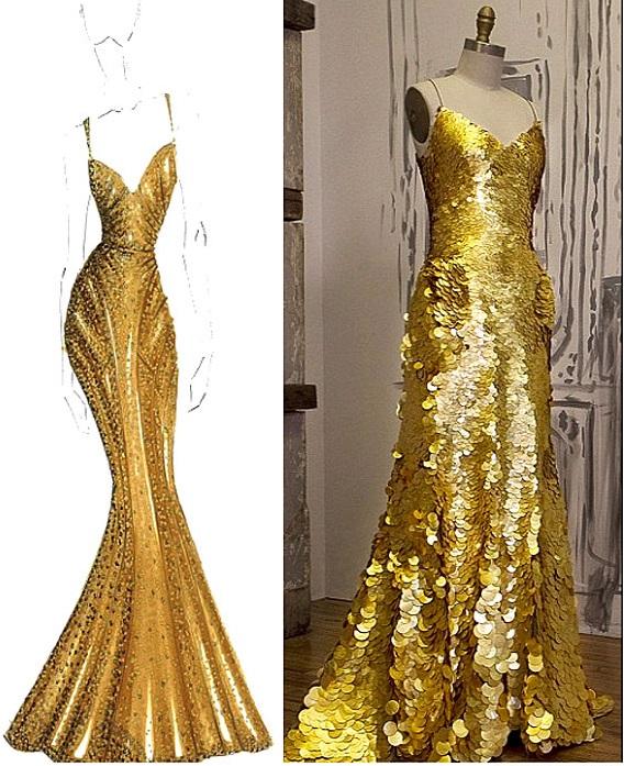abito in oro 3