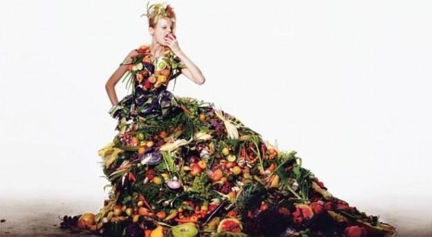 vestito di verdura