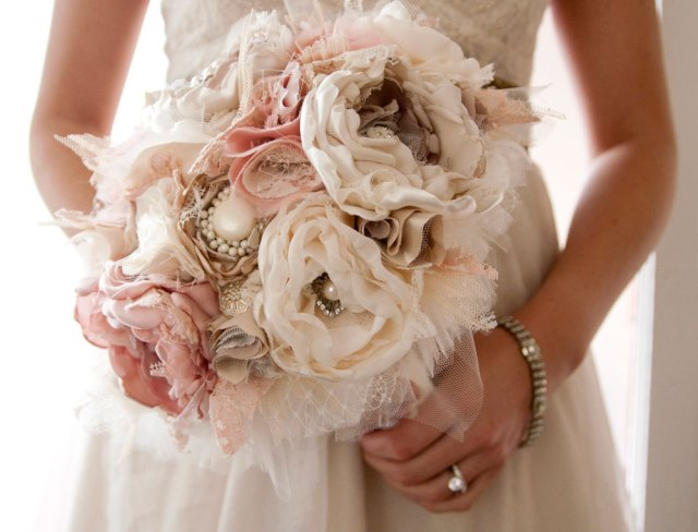 bouquet sposa shabby chic