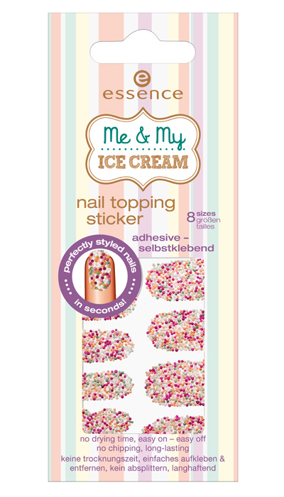 me & my ice cream collection essence nail stickers 2013