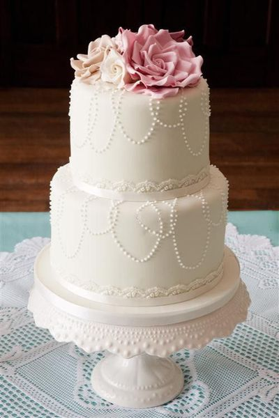 wedding cake shabby chic 10