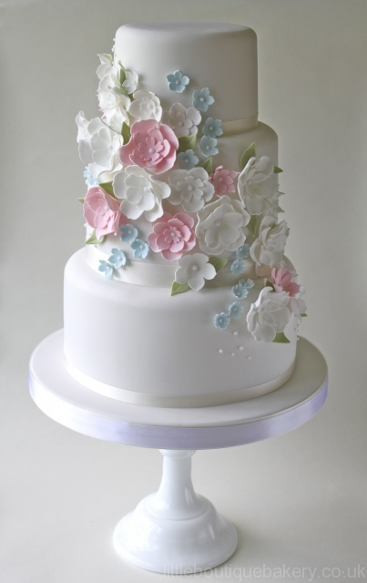 wedding cake shabby chic 11